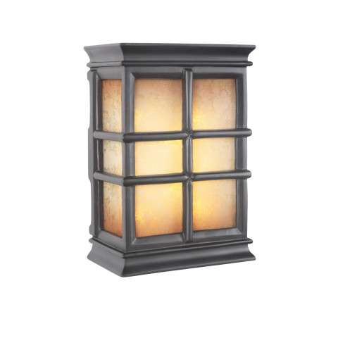 Teiber Chimes Led Hand Carved Window Pane W/Tea-Stained Glass 2 Note Chime In Black Semi-Gloss