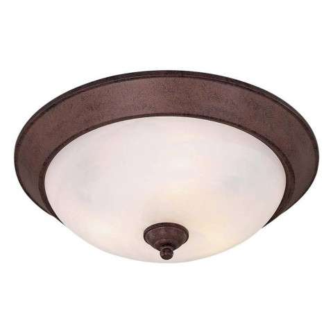 Minka Lavery Lighting 893-91-PL 3 Light Flush Mount in Antique Bronze finish; ENERGYSTAR Compliant Fixture
