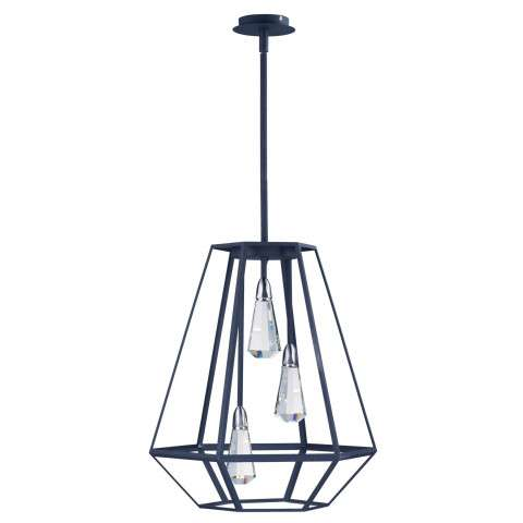 Silhouette LED Pendant in Textured Black