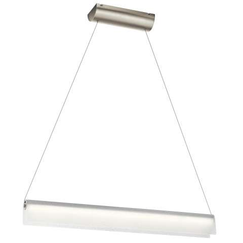 Rainfall LED Linear Pendant in NI - Brushed Nickel