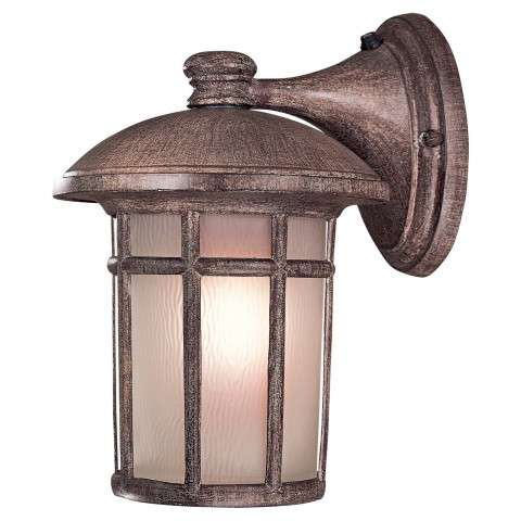 Minka Lavery Lighting 8253-61-PL 1 Light Wall Mount in Vintage Rust finish; ENERGYSTAR Compliant Fixture; Complies with California Title 24