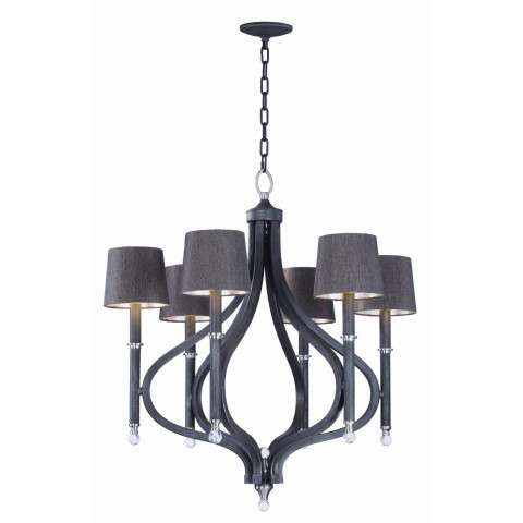 Hendrick 6-Light Pendant with Shades in Iron Ore