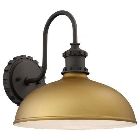 Escudilla Fixture In Painted Honey Gold