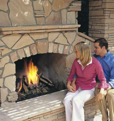 Gas Logs for Outdoor Fireplaces and Fire Pits